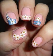 quick and easy nail art pink and blue nail art designs easy fast