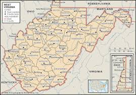 Pennsylvania Counties Map by State And County Maps Of West Virginia