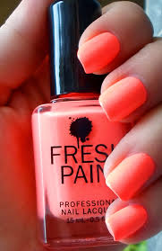 fresh paint guava a neon coral color re pin nail exchange
