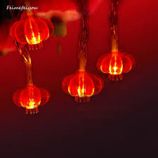 feimefeiyou 2m 20leds led string light red lantern lamp outdoor 2