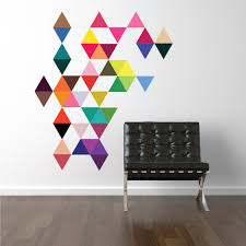 45 mod bright multi color triangle wall decals eco friendly 45 mod multi color triangle wall decals wall dressed up 1