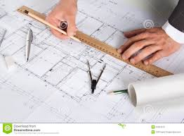 architect making corrections on plans stock images image 31059384