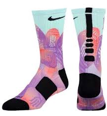 nike kyrie elite digital print dri fit basketball socks hyper 2
