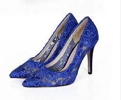 wedding shoes royal blue royal blue 7cm heels lace wedding shoes bridals pumps evening
