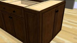 building kitchen island design an island with wall cabinet ends youtube