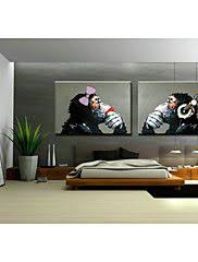 Canvas Without Frame Hand Painted Art Wall Monkey Sitting Room Adornment Oil Painting
