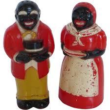 f u0026f hard plastic black americana salt u0026 pepper shaker set sold on