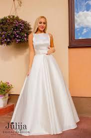 satin wedding dress classic silhouette v back regulated corset