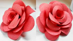 Flower Rose Paper Flowers Rose Diy Tutorial Easy For Children Origami Flower