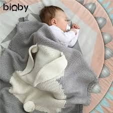 100x75cm infant baby bunny napping blanket swaddling cute rabbit