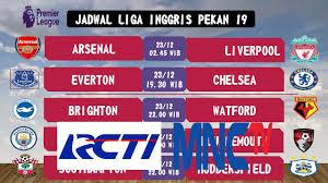 Jadwal Liga Inggris Jadwal Siaran Langsung Liga Inggris Pekan 19 2017 2018