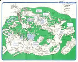 Six Flags Birthday Six Flags Magic Mountain 1982 Park Map
