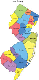map of nj new jersey map with counties