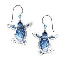 flat back earrings turtles bamboo jewelry