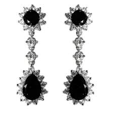 black chandelier earrings kimmy black pear drop dangle chandelier earrings 6ct cubic