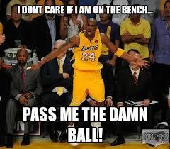 Bench Meme - pass it to the bench meme