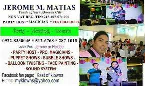 clown magician party host another confirmed booking on sept 10 jerome matias party