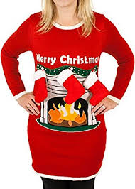 s fireplace lighted sweater with 3 d in