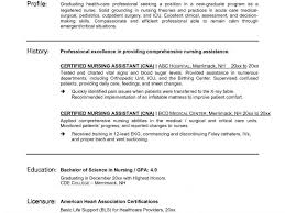 Cna Description For Resume Sample Of Cna Resume Unforgettable Nursing Aide And Assistant