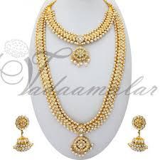fashion jewellery necklace set images Bharatanatyam jewellery indian bridal jewels long and short jpg