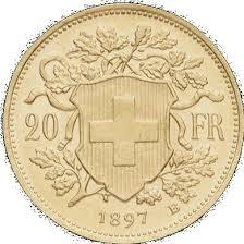 bureau de change suisse 20 francs croix suisse or cotation cours vente et achat pièce d
