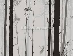 forest silhouette wallpaper wall mural wallsauce usa forest silhouette wall mural photo wallpaper