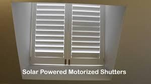 solar powered motorized shutters toronto blinds master youtube
