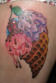domo tattoos ice cream cone tattoo designs pictures to pin on pinterest