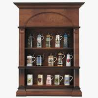 pint glass display cabinet beer glass 3d models for download turbosquid