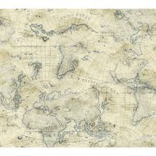 Old World Map Wallpaper by York Wallcoverings Nautical Living Maritime Wallpaper Ny4820 The