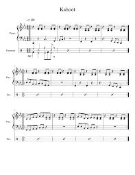 kahoot lobby theme for piano musescore