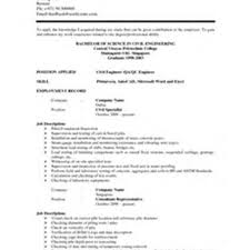 sample resume of a civil engineer resume for your job application