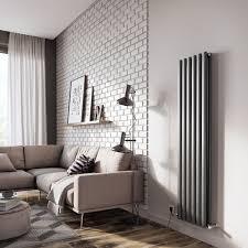 islington double anthracite radiator 1500 x 350mm 6 bars