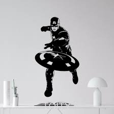 superhero captain america movie poster avengers wall art sticker superhero captain america movie poster avengers wall art sticker vinyl decal nursery children kid room stencil mural decor in wall stickers from home