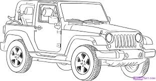 cute white jeep jeep coloring pages to download and print for free