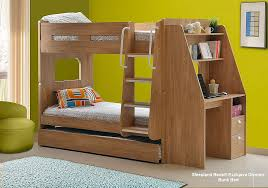 Olympic Bunk Bed With Desk And Guest Bed Sleepland Beds - Oak bunk beds for kids