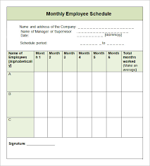 Monthly Work Schedule Template Excel Monthly Schedule Template Here Is Link For This Monthly