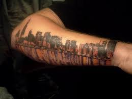 chicago skyline tattoo 5