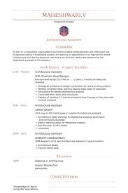 Resume Examples Computer Skills by Architectural Assistant Resume Samples Visualcv Resume Samples