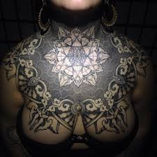 16 admirable geometric and ornamental chest tattoos