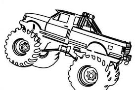 simple monster truck coloring pages bestappsforkids com