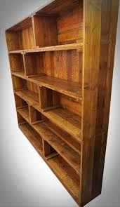 antique pallet bookcase built in crate style 99 pallets
