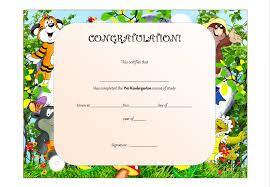 kindergarten certificates pre kindergarten certificate template the best template collection