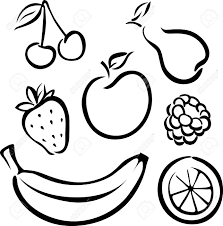fruits clipart in black and white u2013 101 clip art