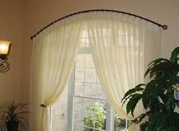 Arch Window Curtains Inspiring Design Ideas Curved Window Curtain Rod Amazing And