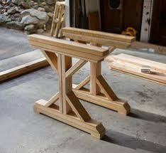 How To Build A Dining Room Table Plans by How To Make Your Own Farmhouse Table Farmhouse Table Base