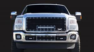 f250 led light bar 2011 2015 ford super duty machined brute super duty grill grilles