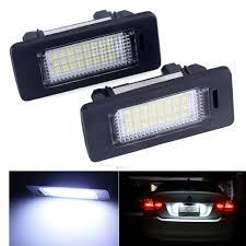 2pcs lot for bmw e39 e60 led license plate light 6000k led number