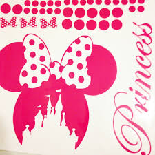 disney minnie mouse bow head wall decal kids personalized name disney minnie mouse bow head wall decal kids personalized name minnie castle polka dot wall sticker