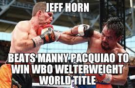Pacquiao Meme - jeff horn beats manny pacquiao memenews